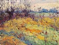 weiden im herbst' [pastures in autumn] by hans andreas
